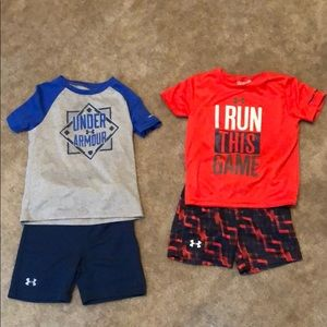 Boys under Armour athletic outfits! Size 24 mo.